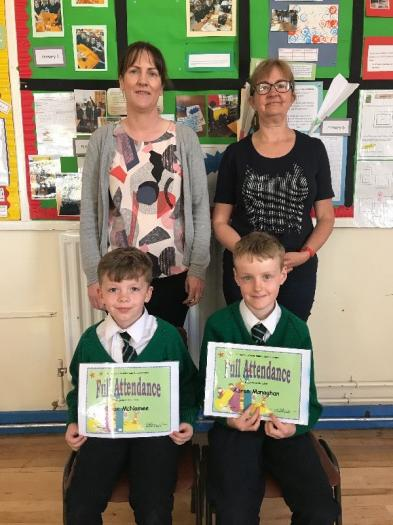 Full Attendance certificates were presented to Ryan and Aaron.