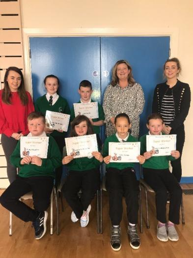 Super Worker Certificates were awarded to Kaidi Ann, Sean, Thomas, Gabrielle, Francheska and Jessica.