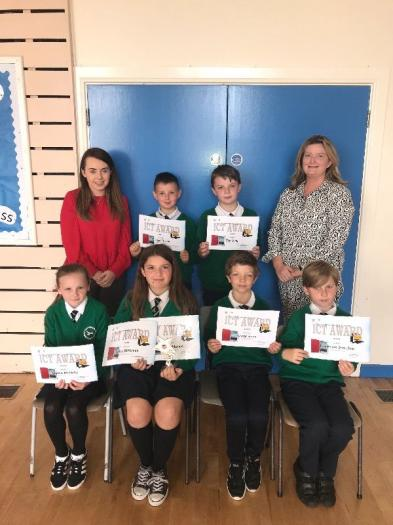 ICT Award nominees Emmet, Jay, Cassie, Oscar and Domeniks and winner Grace.