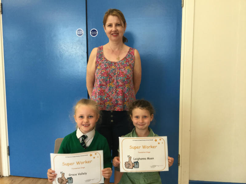 Super Worker certificates were awarded to Grace and Leighanna