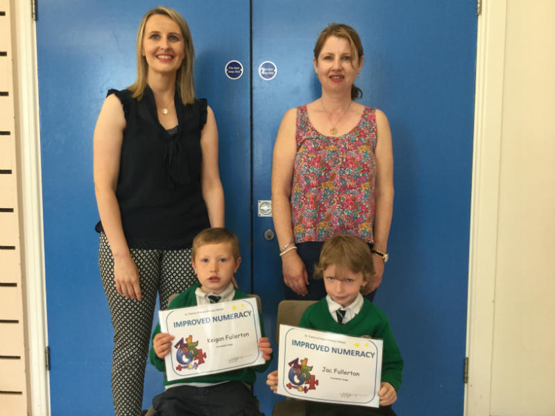 Keigan and Jac were awarded Improved Numeracy certificates